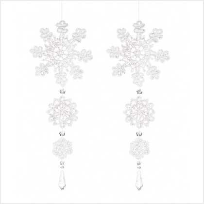 Discount Christmas Shopping: Crochet Snowflake Ornaments