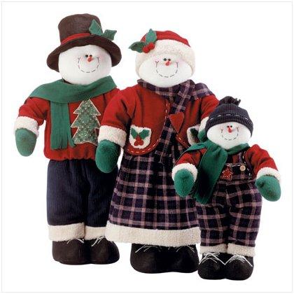Discount Christmas Shopping: Fabric Snowman Family Set