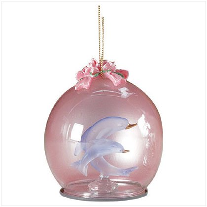 Discount Christmas Shopping: Glass Ornament Dolphins