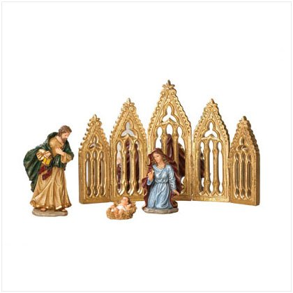Discount Christmas Shopping: Nativity with Mirror Backdrop