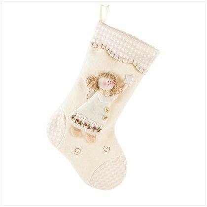 Discount Christmas Shopping: Plush Angel Stocking