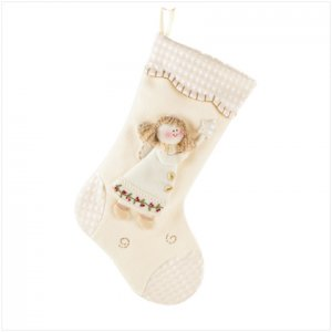 Discount Christmas Shopping: Plush Angel Stocking