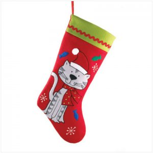 Discount Christmas Shopping: Plush Cat Stocking