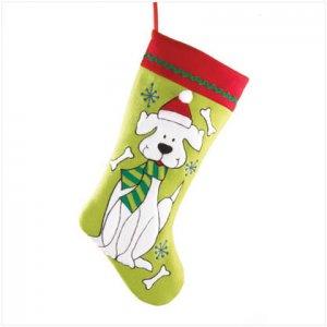 Discount Christmas Shopping: Plush Dog Stocking