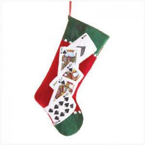 Discount Christmas Shopping: Plush Royal Flush Playing Cards Stocking