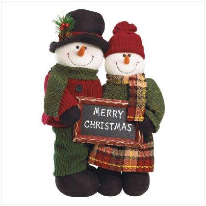Discount Christmas Shopping: Plush Standing Snowman Couple