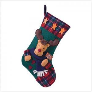 Discount Christmas Shopping: Plush Stocking-Rudolph