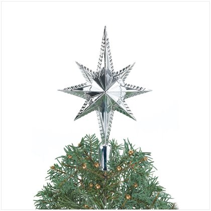 Discount Christmas Shopping: Silver Star Tree Topper