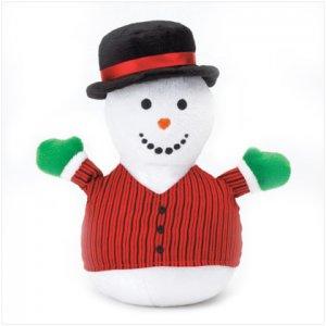 Discount Christmas Shopping: Snowman Plaid Mini Bean Bag