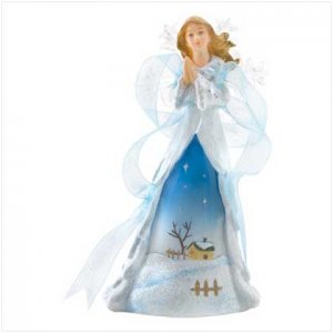 Discount Christmas Shopping: Angel with Acrylic Wings Figurine