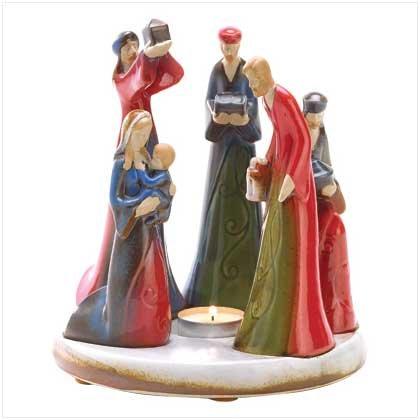 Discount Christmas Shopping: Nativity Candleholder