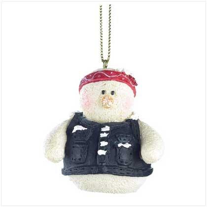 Discount Christmas Shopping: Snowberry Cuties Biker Chick Ornament