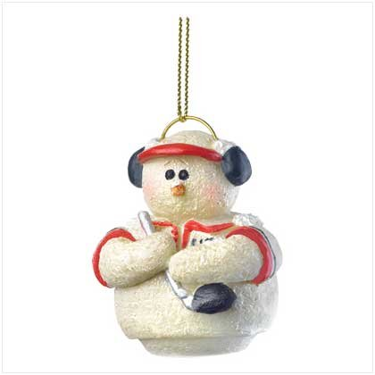 Discount Christmas Shopping: Snowberry Cuties, Golfer Ornament