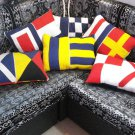 """Naval Signal Flag PILLOW COVER  - 100% COTTON  - TOTAL 6 COVER - 12"""" X 18"""""""