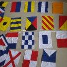 Nautical Boat Signal Code FLAG - 100% COTTON  - Total 26 flag - LENGTH 26 FEET