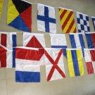 "Nautical Sailboat Boating Signal FLAG- 15"" X 18"" -Total 26 flag -LENGTH 40 FEET"