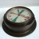 CHRONOQUARTZ Marine RADIO-ROOM Clock - BRASS - Made in GERMANY