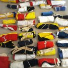 VINTAGE Naval Signal Flag SET -  SHIP'S 100% ORIGINAL - Set of Total 14 flag(41)