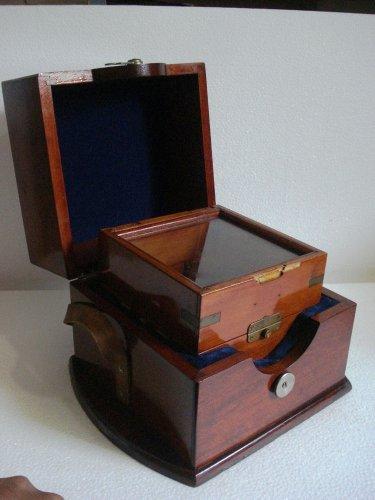 USSR Vintage ship's Marine CHRONOMETER  Double Box - RUSSIAN CHRONOMETER BOX