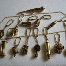 Lot of 13 pcs MARINE / NAUTICAL Key - Chain -ALL DIFFERENT -Fully BRASS Made