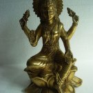 Lord GAYATRI Maa Statue * BRASS * SOLID HEAVY WEIGHT * Indian Lord