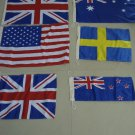 Lot of 150 pieces FLAGS - USA, ENGLAND, AUSTRALIA, SWEDEN, NEW ZEALAND, UK