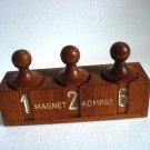 Real ANTIQUE Wooden Number Rout Box - MAGNET KOMPAS -SHIP'S ORIGINAL - EXCELLENT