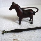 ANTIQUE Style HORSE Type Padlock - Lock with Key - Brass Made (B)