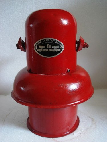 U.S. NAVY Marine Siren -FEDERAL SIGNAL CORPORATION -Model L -Emergency Fire (B)