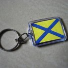 5 - Naval Signal Flag KEY CHAIN – Number Five - FREE SHIPPING