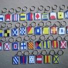 Naval Signal Flags / Flag KEY CHAIN - Total 36 Key Chain - BOTH SIDE