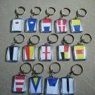 Naval Signal Flags / Flag KEY CHAIN - Total 14 Key Chain - BOTH SIDE