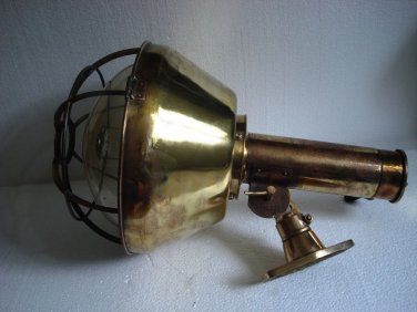 U.S. NAVY Ship's LARGE Brass DECK Light / Lamp - SHIP'S 100% ORIGINAL