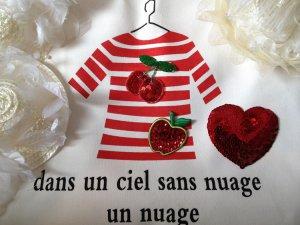 DIY Bag Bling Red Heart cherry Sequin Apple Beading badge Embellishments 4DesignCraft