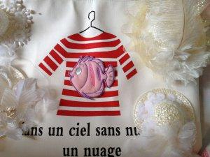 Tropical Baby Fish light pink Kindergarten Style DIY Toddler bag buy more enjoy free shipping