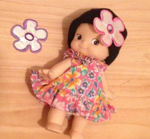 Shinny Embellishments Lavender pink flower Patch DIY Bdoll Flower Card Birthday Day 4DesignCraft