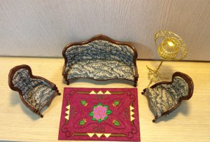 Doll House mini carpet embroidery pattern Pullip Kewpie Blythe 4DesignCraft