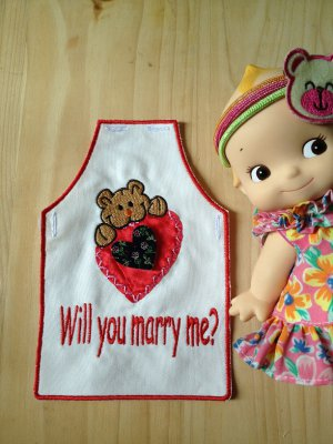 wine apron brithday gift wedding party dinner cheers will you marry me 4designcraft