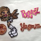 Bratz yasmin embroidery badge ooak DIY Doll maker best gift 4DesignCraft※