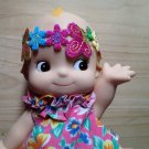 Headband Doll hair Embellishments colourful floral flower Patch DIY Bdoll 4DesignCraft