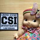CSI Deco jean jacket Patch  embroidery badge DIY Uniform Embellishment souvenir 4DesignCraft※