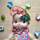 Doll hair Embellishments  flower Patch DIY Bdoll blythe pullip kewpie 4DesignCraft