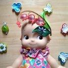 Doll hair Embellishments  flower Patch DIY Bdoll blythe pullip kewpie 4DesignCraft