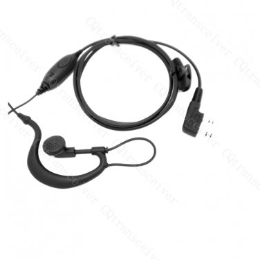 G Shape earpiece with in line PTT button for Kenwood TH-D7AG TH-D7E TH-F6 TH-F6A TH-F7 TH-F7E TH-G71