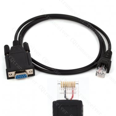 KPG46 DB9 COM port Programming cable for Kenwood 2 way radio TM-261A TM-271A TM-461A TM-471A