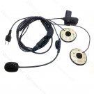 F1 Racing Helmet Heaset mic for Icom Radio IC-F14 IC-F24 IC-F10 IC-F11 IC-F12 IC-F21 IC-V85 IC-V82