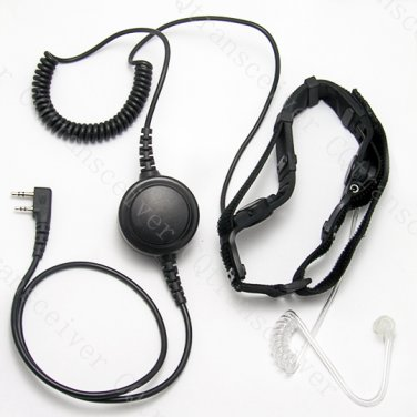 Military Throat mic with Heavy duty PTT for Kenwood radio TK2160 TK3160 TK2170 TK3170 TK3173 TK2207