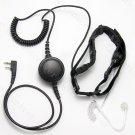 Hands free 2 sensors throat mic Earpiece for Kenwood Wouxun Puxing Baofeng Quansheng 2 pin radios