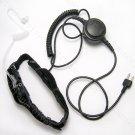 Heavy duty Two sensor Throat mic headset for Icom radio IC-02A IC-02AT IC-02E IC-02N IC-03A IC-03AT