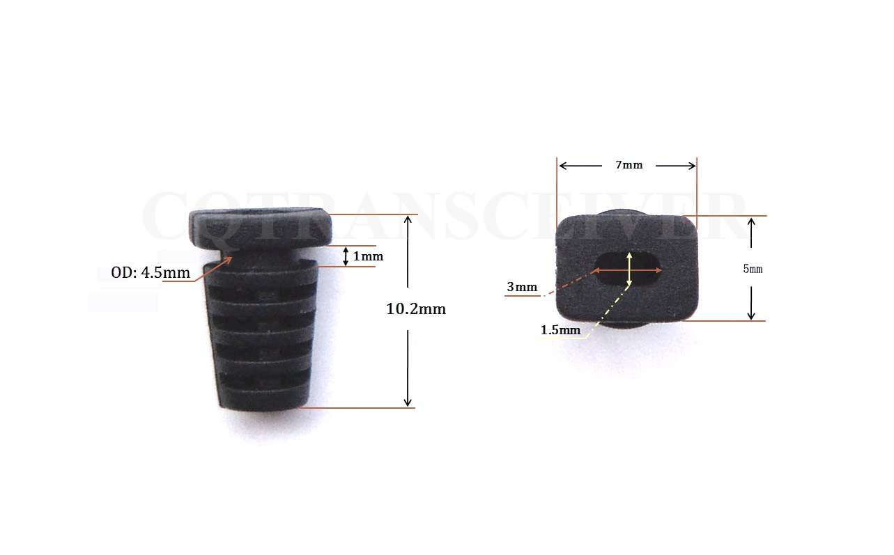 100 Pcs High Quality Black Plastic Cable Strain Relief